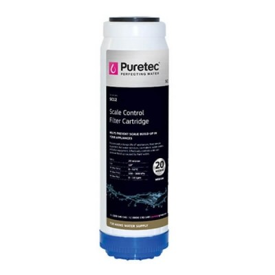 "Puretec SC12 Scale Control Media Water Filter Cartridge 2.5"" X 10"""