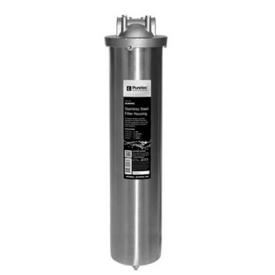 "Puretec SS40MP2 20"" Water Filter Housing MaxiPlus Stainless Steel Bowl"