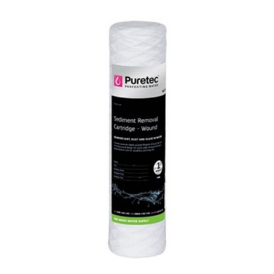 "Puretec WD011 Wound Sediment Water Filter Cartridge 2.5"" x 10"" 1 Micron"