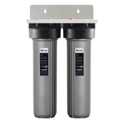 "Puretec WH2-55 Dual 20"" Whole House Water Filter System"