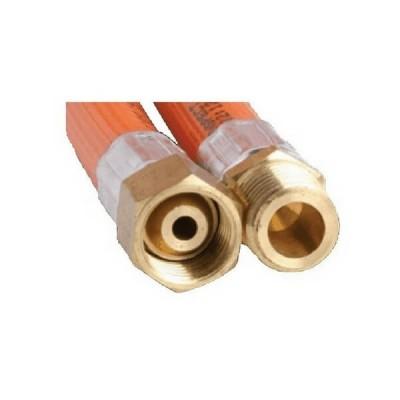 """900mm PVC LP Gas Hose 1/4"""" BSP Male X 1/4"""" BSP Female Cone 6HAA Class C"""