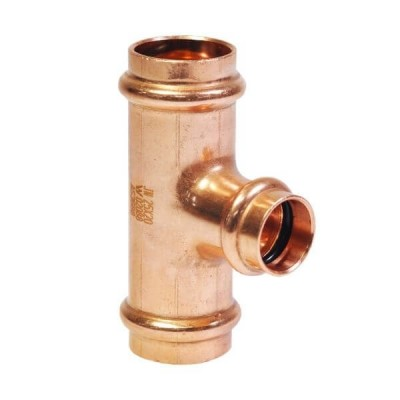 "20mm X 20mm Ctr X 15mm 1/2"" Reducing Tee Water Copper Press"