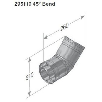 Rheem 27 Internal Flue 45 Degree Bend 295119