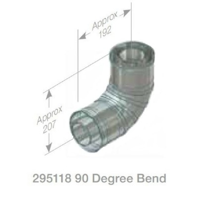 Rheem Flue Bend 90 Degree Model 295118