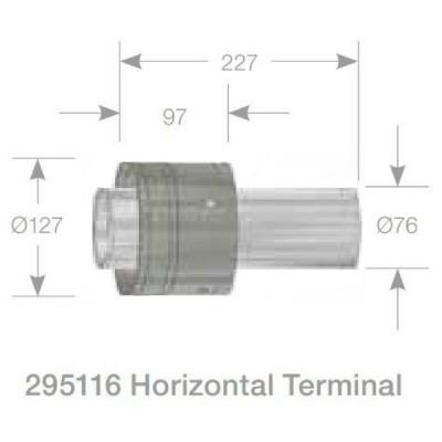 Rheem Horizontal Flue Terminal Model 295116