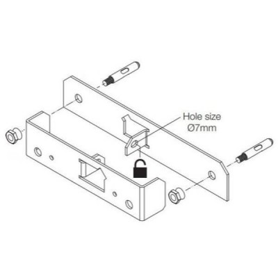Rheem Wall Mount Security Bracket Kit 299868 Suit Continuous Flow Heaters
