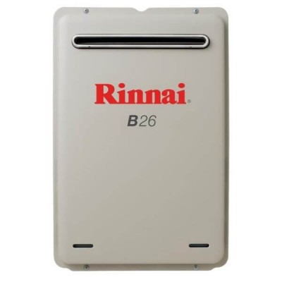 Rinnai B26 Preset 60C Natural Gas Builders Series Continuous Flow Hot Water System B26N60A