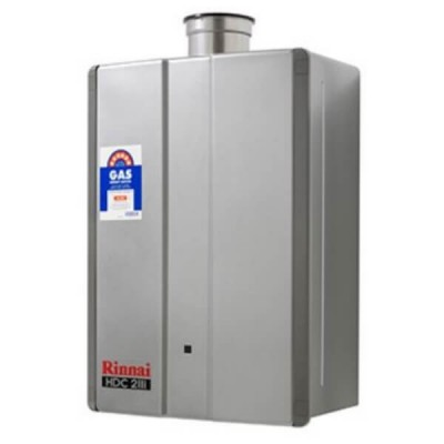 Rinnai HDC211I Preset 75C Natural Gas Internal Heavy Duty Condensing Hot Water System HDC211IN75