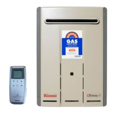 Rinnai Infinity Touch 26 Natural Gas Preset 50C Continuous Flow Hot Water System INF26TN50MA