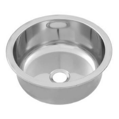 Round Inset Pressed Bowl 385mm X 170mm Stainless Steel RBF385