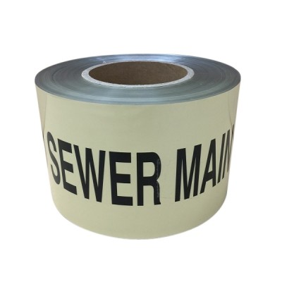 Sewer Warning Tape 100mm X 100m Detectable