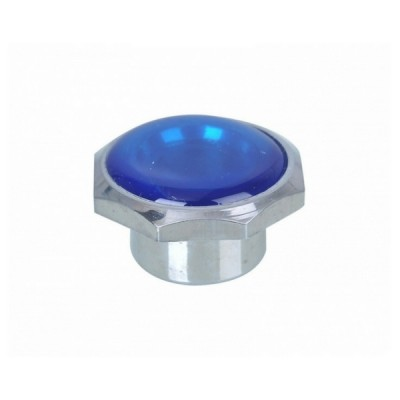 Standard Button Blue Chrome