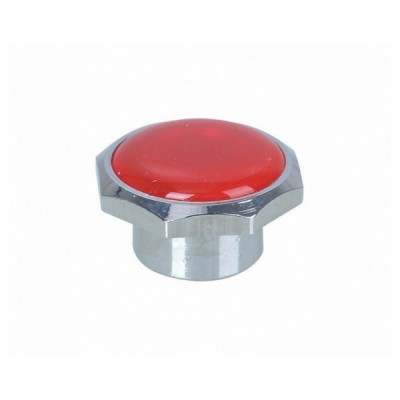 Standard Button Red Chrome