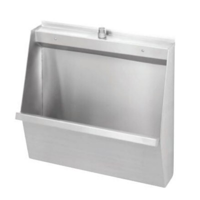 600mm Standard Wall Hung Stainless Urinal Top Entry Centre Inlet / Centre Outlet M-SWHUR-600C