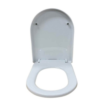 Stylus Banksia Toilet Seat White Soft Close Blind Fix Hinges K00003W