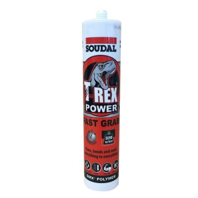 T Rex Power Grey Fast Grab Adhesive Soudal 121970