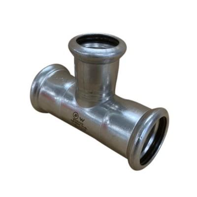 28mm x 22mm Tee Reducing Press Stainless Steel