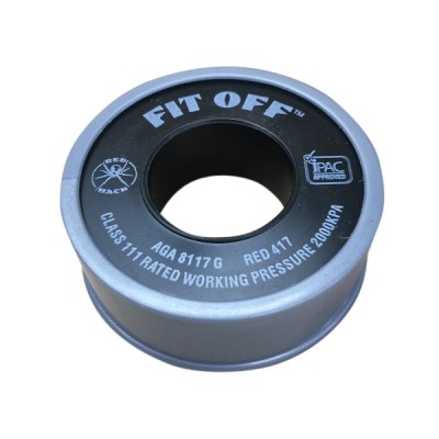 Teflon Tape Grey Fit Off Redback 15mm X 10m