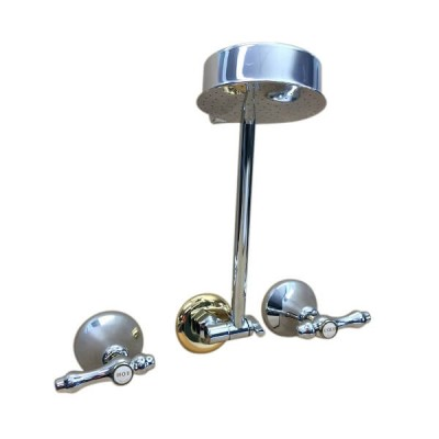 Traditions Lever Shower Set Chrome Gold Ceramic Disc All Directional Arm TL1214