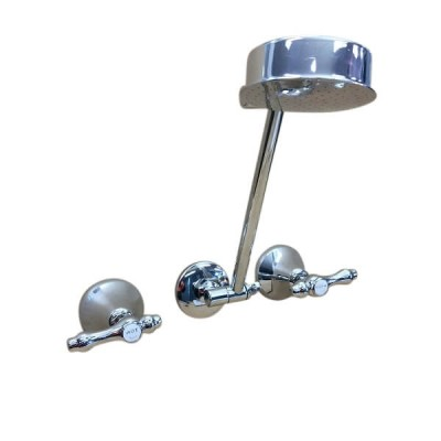 Traditions Lever Shower Set Chrome Ceramic Disc All Directional Arm TL1197