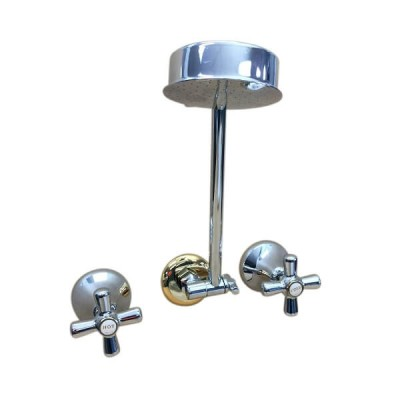 Traditions Shower Set Chrome Gold Ceramic Disc All Directional Arm STC142