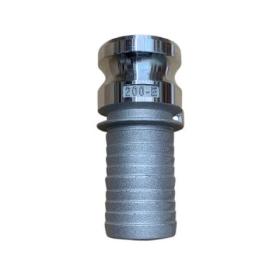 65mm Type E Camlock Male Adaptor to Hose Tail Coupling Alloy