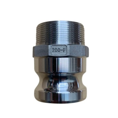 80mm Type F Camlock Male Adaptor to Male BSP Coupling Alloy