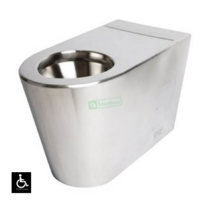 Wall Faced Disabled Toilet Pan P Trap Stainless Steel WC-SSDP