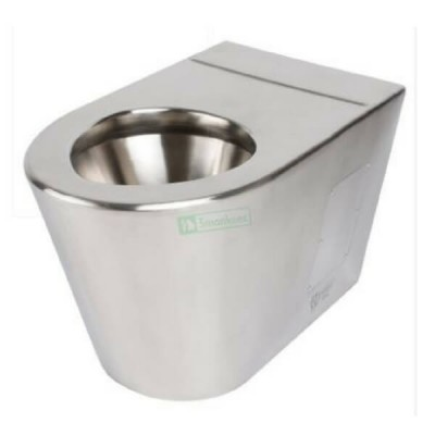 Wall Faced Toilet Pan P Trap Stainless Steel WC-SSWFP