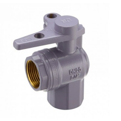 Water Meter Ball Valve Right Angle Lockable 20Fi X 20Fi Lilac