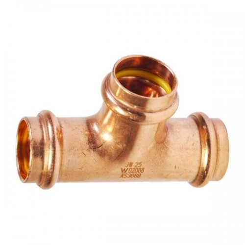 40mm Tee Equal Gas Copper Press