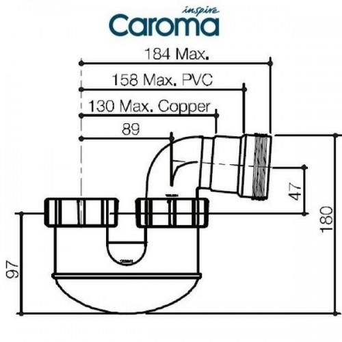 50mm Short P Trap PVC Caroma