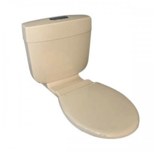Caroma Slimline Ivory Dual Flush Connector Toilet Cistern U0026 Seat 4.5/3  Litre 233030I