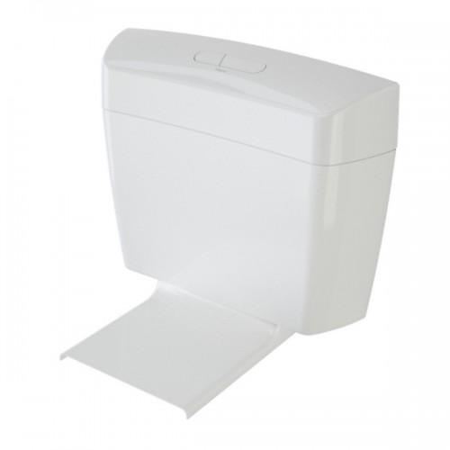 Caroma Uniset II White Dual Flush Connector Toilet Cistern & Seat 6/3 Litre 247001W