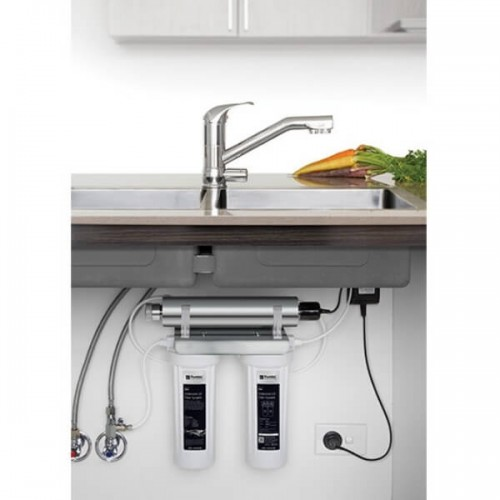 Puretec ESR2 T2 Tripla Twin Cartridge Ultraviolet Rain Water Filter Undersink 3 Way LED Mixer Tap