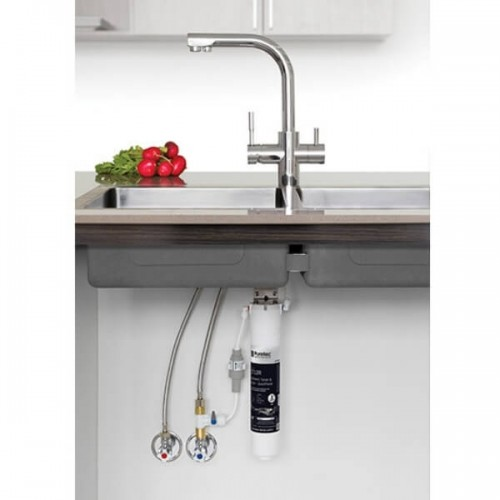 Puretec QT12 T3 Tripla Water Filter Kit Undersink With 3 Way LED Mixer Tap