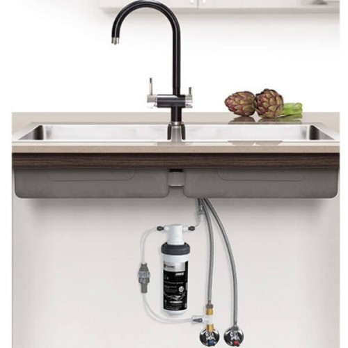 Puretec Z1-BL1 Matt Black & Chrome Tripla Mixer Tap Including Undersink Water Filter