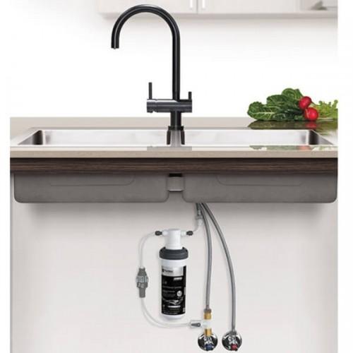 Puretec Z1-BL2 Matt Black Tripla 3 Way Mixer Tap Including Undersink Water Filter
