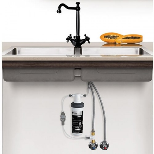 Puretec Z1-BL3 Matt Black Tripla 3 Way Heritage Mixer Tap Including Undersink Water Filter