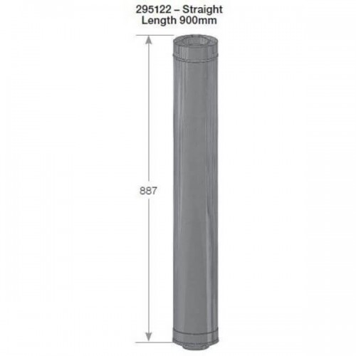 Rheem 27 Internal Flue Straight Length 900mm 295122