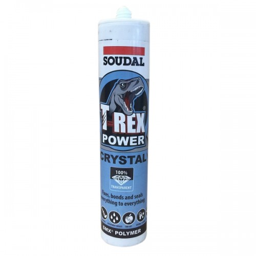 t rex power clear sealant adhesive soudal 121969. Black Bedroom Furniture Sets. Home Design Ideas