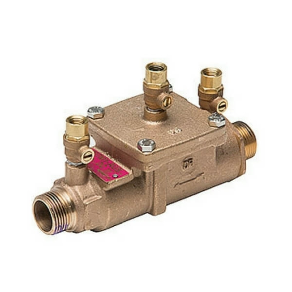 Mm bronze double check valve watts includes ball