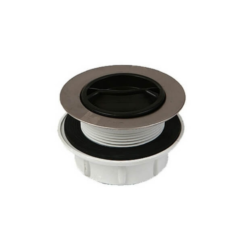 50mm Pvc Sink Plug Amp Waste Stainless Steel Trim