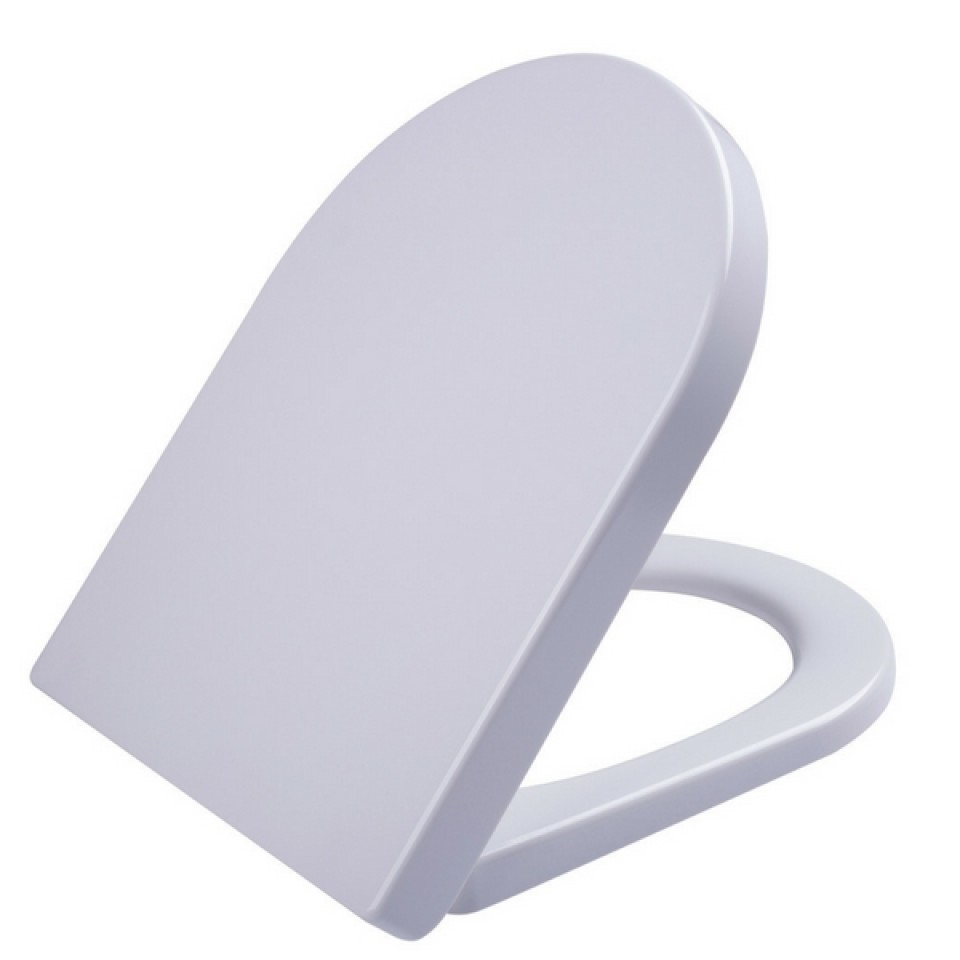 square shaped toilet seat. Haron D Shape Toilet Seat Square Edge White With Slow Close Quick Release  Stainless Hinges TS2100 Plumbing Sales