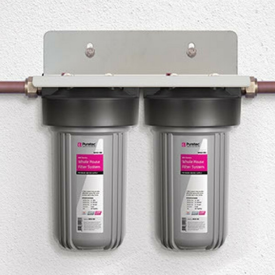Puretec wh2 30 dual whole house filters 10 plumbing sales for Whole house plumbing trap