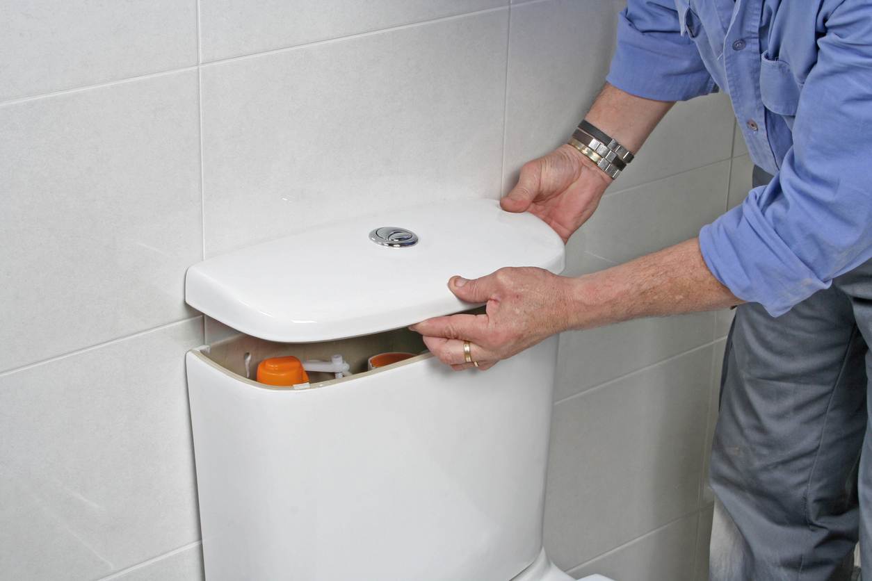 how to open a toilet cistern