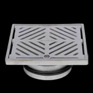 150mm Square Floor Waste Hinged Grate 304 Stainless Steel 100mm Outlet FW-150S-304